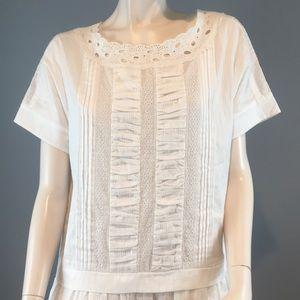 kate spade Dresses - NWT Kate Spade Cotton White Summer Dress Sz 8